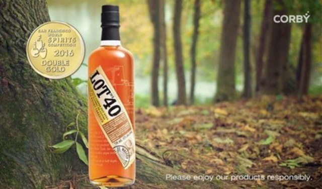 Lot No. 40, Best Canadian Rye Whisky, Double Gold Medal winner at the San Francisco World Spirits Competition ...