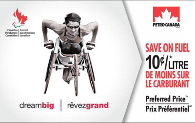 Lancement de la carte Économie sur l'essence en prime paralympique de Petro-Canada à l'effigie de la coureuse en fauteuil roulant Michelle Stilwell, triple médaillée d'or des Jeux paralympiques. (Groupe CNW/COMITE PARALYMPIQUE CANADIEN (CPC))