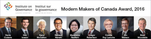 Modern Makers of Canada Awards 2016 (CNW Group/Institute on Governance)
