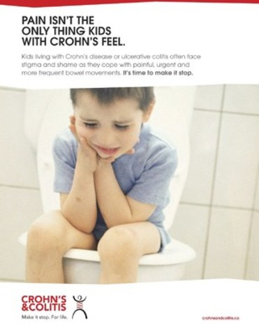 PAIN ISN'T THE ONLY THING KIDS WITH CROHN'S FEEL. This Public Service Announcement is available to download. (CNW Group/Crohn's and Colitis Canada)