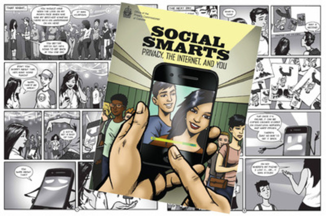 Graphic novel helps youth navigate online privacy risks. (CNW Group/Office of the Privacy Commissioner of Canada)