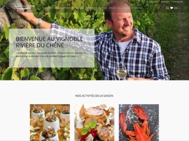 Nouveau site internet pour le Vignoble Rivière du Chêne ! (Groupe CNW/Vignoble Rivière du Chêne)