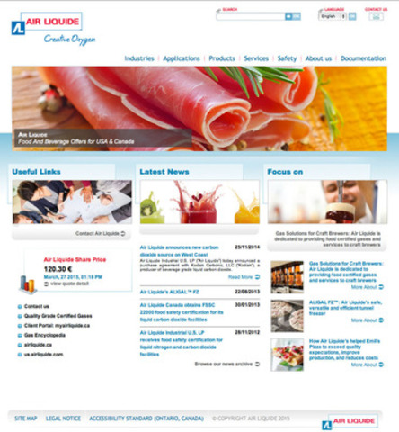 Food and Beverage offers from Air Liquide Canada (CNW Group/Air Liquide Canada)
