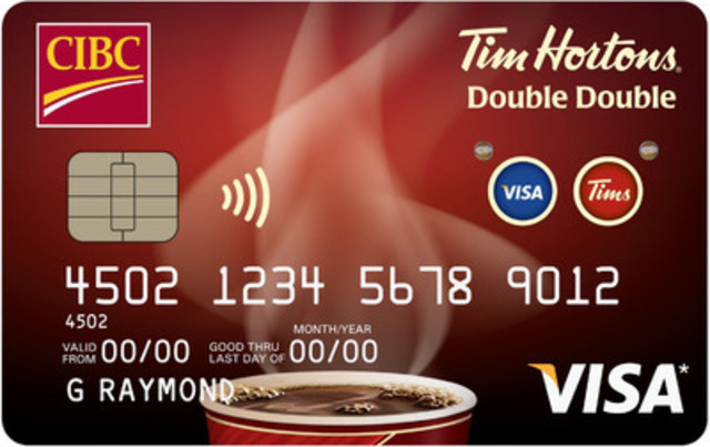 New CIBC Tim Hortons Double Double Visa Card features innovative, first-of-its-kind technology. (CNW Group/CIBC)