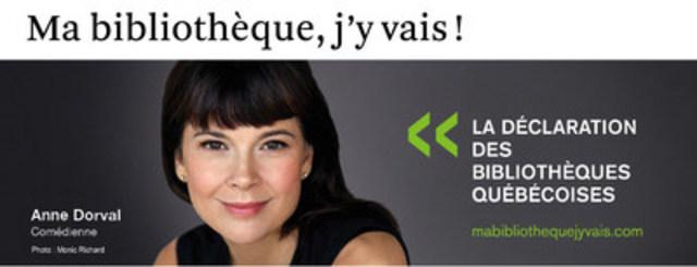 Anne Dorval (Groupe CNW/Table permanente de concertation des bibliothèques québécoises)
