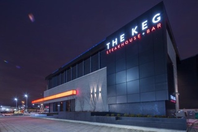 The new Keg Steakhouse + Bar location in the North expansion of CF Sherway Gardens. (CNW Group/Cadillac Fairview Corporation Limited)