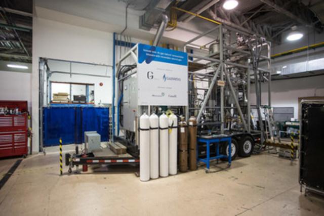 Unité de démonstration qui permet de transformer la biomasse forestière en gaz naturel (Groupe CNW/Gaz Métro)