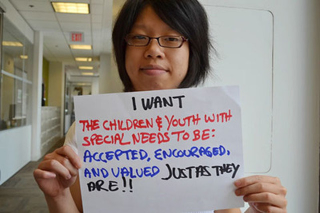 Crystal Chin, one of the youth amplifiers working on the I Have Something to Say project at the Office of the Provincial Advocate for Children and Youth. (CNW Group/Office of the Provincial Advocate for Children and Youth)