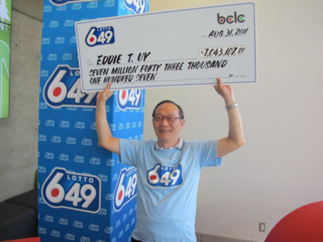 $7 million Lotto 6/49 winner, Eddie Uy (CNW Group/BC Lottery Corporation)