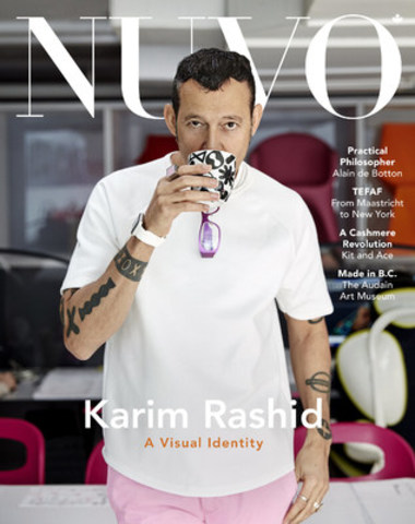 "Award-winning designer Karim Rashid sits down with NUVO to discuss his 30-year-long career. ""Design is a field where we're shaping daily experiences,"" says Rashid, ""and the daily experiences should perpetually just get better and better."" www.nuvomagazine.com (CNW Group/NUVO Magazine Ltd.)"