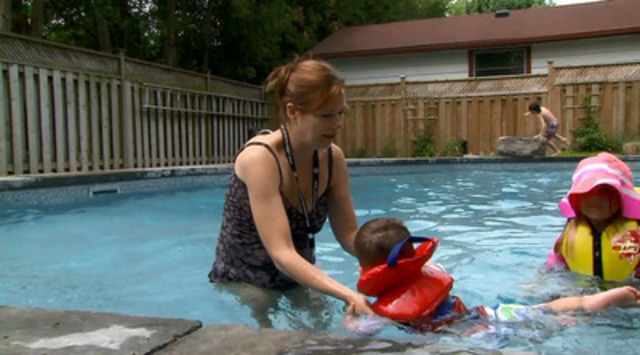 "Video: The Lifesaving Society wants parents and caregivers of young children to ask who's ""on guard?"" around water this summer."