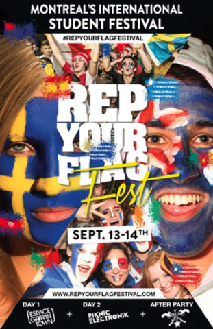 Interstude annonce la tenue du troisième festival pour étudiants internationaux «Rep Your Flag Festival» (Groupe CNW/Interstude Inc.)