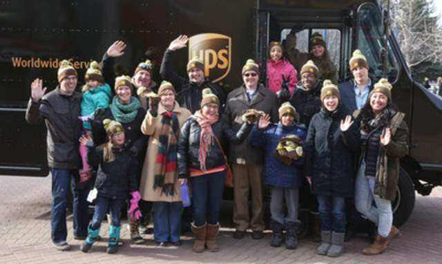 UPS Canada celebrated 40 years in Canada on Saturday, February 28 at Eau Claire market. To thank the Calgary community, UPS volunteers handed out free warm drinks, sweet treats and commemorative 40th anniversary toques. (CNW Group/UPS Canada Ltd.)