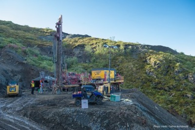 Q3 drilling activity at Wellgreen project, Yukon (Photo credit: www.archbould.com) (CNW Group/Wellgreen ...