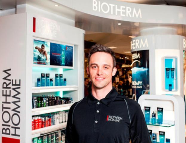 Toujours plus loin : Biotherm Homme annonce un partenariat stratégique avec Sébastien Sasseville. (Groupe CNW/Biotherm)