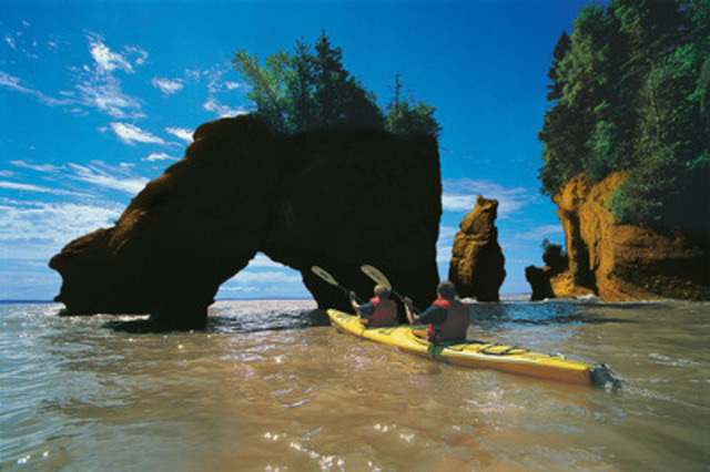Canada's Bay of Fundy, renowned for having the highest tides on the planet, is one of the country's most extraordinary natural wonders and attracts about a million tourists every year. Credit: New Brunswick Dept. of Tourism and Parks (CNW Group/Canadian Tourism Commission)