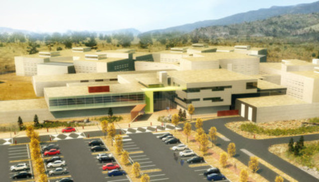 Rendering of Okanagan Correctional Centre (CNW Group/Canadian Council for Public-Private Partnerships)