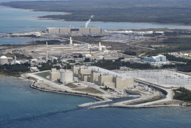 An aerial view of the Bruce Power site. (CNW Group/Bruce Power)