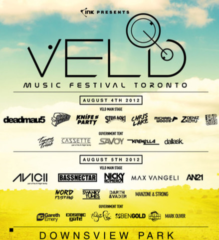 VELD Music Festival Toronto 2012 - August 4th and 5th (CNW Group/INK ENTERTAINMENT)