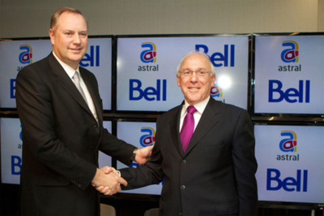 Bell to acquire Astral Media inc. George Cope, President and CEO of BCE Inc. and Bell Canada Ian Greenberg, President and CEO of Astra Media (CNW Group/BELL CANADA)