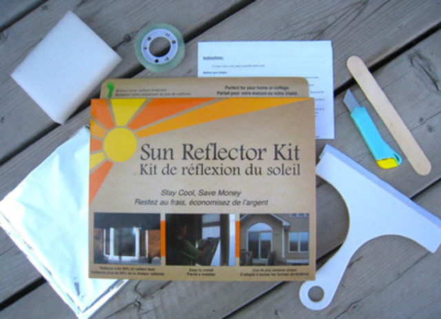 The Sun Reflector Kit reflects from the outside but you can see through from the inside. (CNW Group/Sun Reflector Kit)