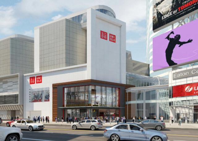 UNIQLO lancera son premier magasin au Canada le vendredi 30 septembre, au CF Toronto Eaton Centre (Groupe CNW/UNIQLO Canada)