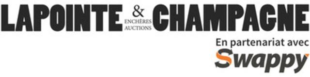 Logo : La maison d'encan Lapointe et Champagne en collaboration avecSwappy (Groupe CNW/Swappy)