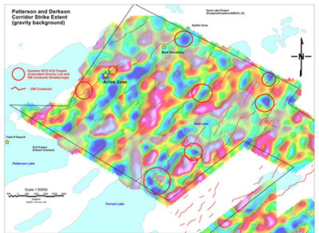 Figure 1: Rook I Western Section, Patterson and Derkson Conductor Corridors (CNW Group/NexGen Energy Ltd.)