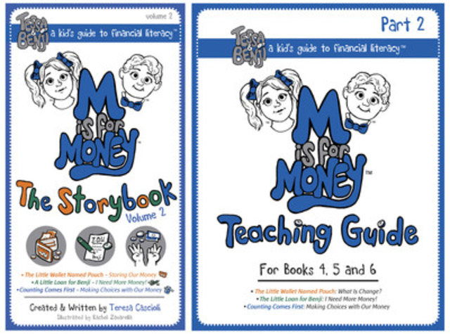 """Fun play merchandise, teaching guide, activities and an original """"Nickels & Dimes© – M is for Money"""" song can be downloaded online at www.MisforMoney.ca (CNW Group/M is for Money)"""