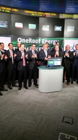 OneRoof Energy Opens Toronto Stock Market Exchange. (CNW Group/OneRoof Energy, Inc.)