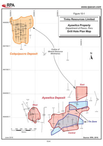 Figure 1. Drill Hole Map and Projected Mineral Resource Wireframes (CNW Group/Tinka Resources Limited)