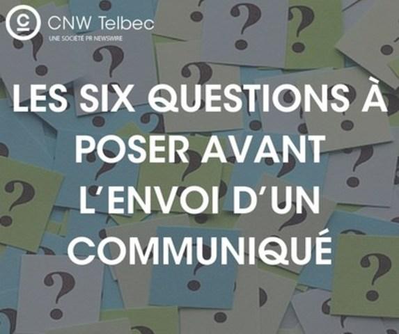 CNW présente la liste par excellence en matière de vérification de communiqués (Groupe CNW/Groupe CNW Ltée)