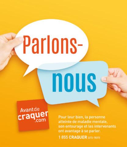 Logo: Campagne de sensibilisation 2016 - Parlons-nous (Groupe CNW/FFAPAMM)