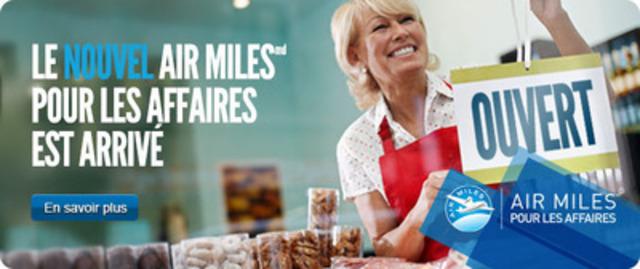 AIR MILES Pour les affaires, c'est un nouveau volet tout à fait unique du Programme de récompense AIR MILES : il est spécialement pensé pour les plus de 800 000 adhérents propriétaires d'une petite entreprise. (Groupe CNW/Programme de récompense AIR MILES)