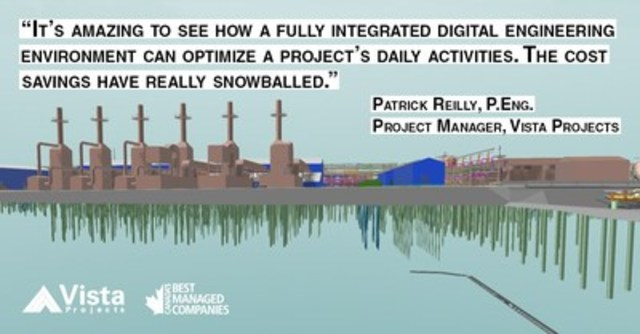 Project Manager Patrick Reilly will give a technical presentation at the upcoming World Heavy Oil Congress on how Vista Projects successfully completed the oil sands industry's largest and most comprehensive implementation of a digital engineering environment. (CNW Group/Vista Projects Limited)