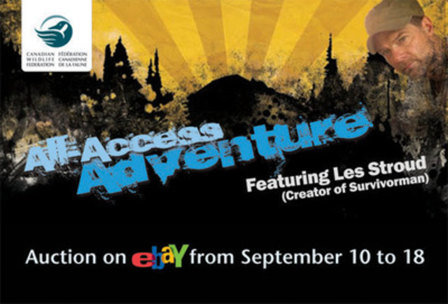 CWF Launches All Access Adventure Auction. (CNW Group/CANADIAN WILDLIFE FEDERATION)