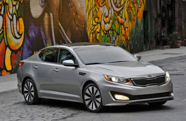 Starting at $21,995, the world-class Kia Optima boasts a striking design with impressive technology, safety, performance, and luxury features. Three different powertrain selections - a 2.4L Gasoline Direct Injection (GDI), 2.0L turbocharged GDI and an ultra-efficient Hybrid - provide an award-winning Optima for whatever drives you. (CNW Group/Bradford Productions)