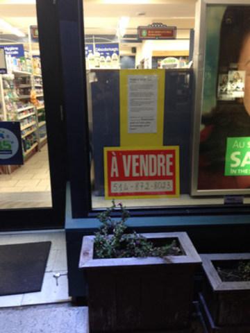 Les commerces de la rue Rachel en ont assez de Luc Ferrandez. Plus de 50 commerçants ont décidés de vendre leurs commerces. (Groupe CNW/Comité de résidents et gens d'affaires du Petit Laurier)