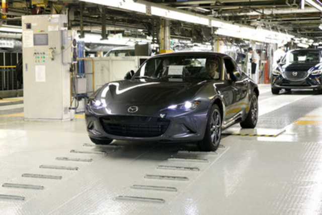 The first mass-produced MX-5 RF (European specifications) (CNW Group/Mazda Canada Inc.)