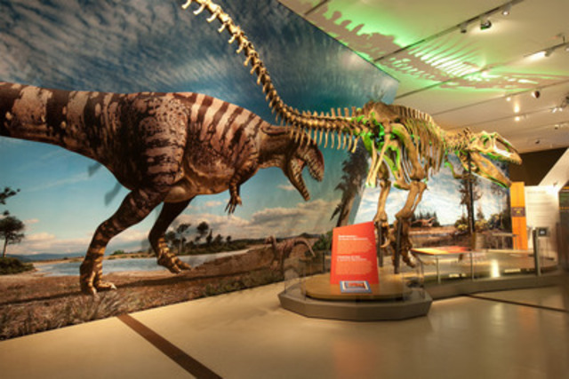 The Royal Ontario Museum's Ultimate Dinosaurs: Giants from Gondwana Exhibition transports visitors back in time with the help of life-size graphics created by HP Latex Technology (CNW Group/HP Canada)