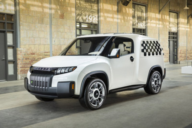 The Toyota U2 (U Squared) Urban Utility concept will make its global motor show debut at the upcoming Canadian International Auto Show in Toronto. #ToyotaU2 (CNW Group/Toyota Canada Inc.)