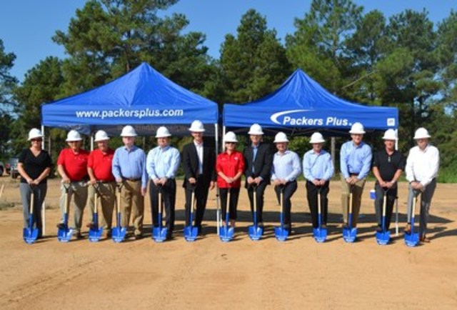 Representatives from Packers Plus and the City of Tomball at the groundbreaking ceremony for the new Packers Plus Houston Campus. (CNW Group/Packers Plus Energy Services Inc.)