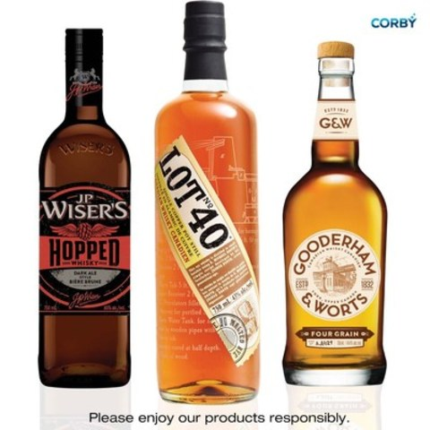 Innovative small-batch whiskies earn Corby 10 prestigious awards in 2016 (CNW Group/Corby Spirit and Wine Communications)
