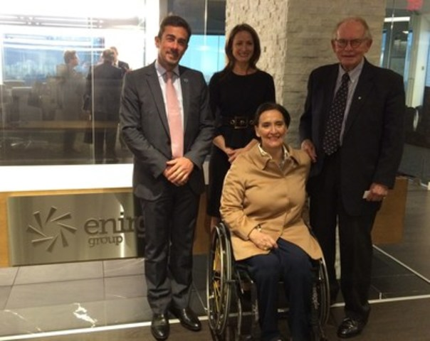 Vice President of Argentina, Gabriela Michetti and Juan Procaccini, Executive President and Chief Executive Officer of the Argentina Investment + Trade Promotion Agency visit Enirgi Group's Head Office in Toronto, Ontario, Canada. (CNW Group/Enirgi Group Corporation)