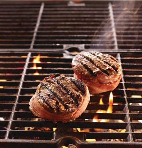 M&M Food Market's expanded product lineup and in-store meal advisors can help every griller, from the novice to the skilled. Products like these Bacon Wrapped Beef Top Sirloin Steaks are simple and perfect for the barbecue. (CNW Group/M&M Food Market)