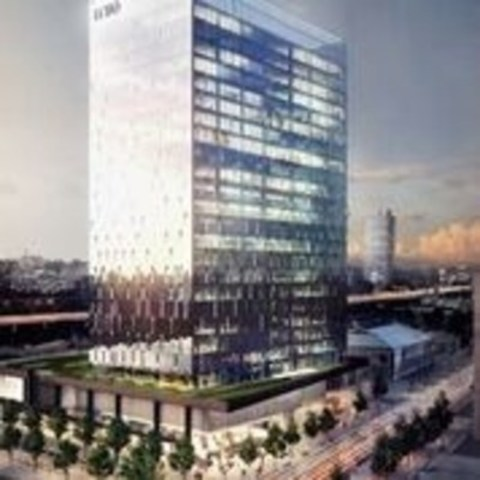 LCBO Tower crop: View of proposed office tower at 100 Queens Quay East. Image courtesy of Menkes Developments ...