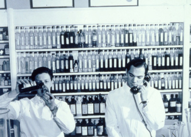Vintage pharmacy snapshot from Shoppers Drug Mart's early days. Now celebrating its 50th Anniversary, Shoppers Drug Mart's Associate-owners and pharmacists fill almost 100 million prescriptions a year. (CNW Group/Shoppers Drug Mart Corporation)