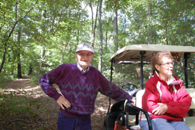 Trees Ontario Green Leaders, Joe and Joyce Hickson, in their remnant Carolinian forest (CNW Group/Trees Ontario)