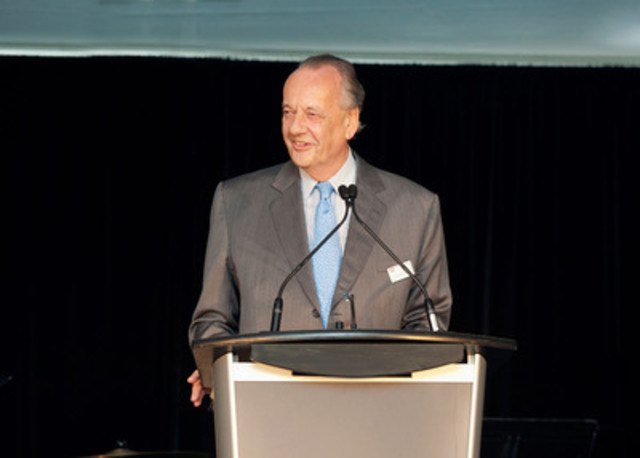 Dr. h.c. August Oetker speaking at the grand opening of the company's new pizza plant in London, Ontario. (CNW Group/Dr. Oetker Canada Ltd.)