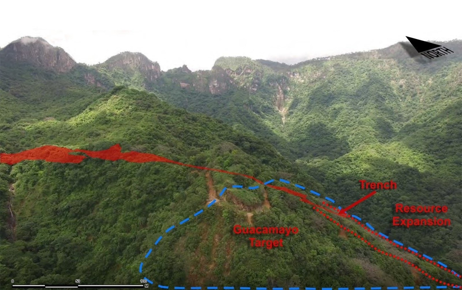 Figure 3 Aerial view - Guacamayo Target and Resource Area